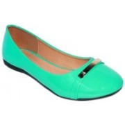 Promenade Melissa Patent Green Bellies For Women(Green)