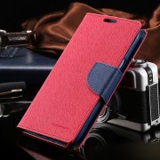 Korean Mercury Fancy Diary Wallet Case for Samsung Galaxy Note 4 - Red