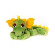 Geen Magnetron warmte knuffel groene draak 18 cm