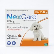 NexGard Chews For Very Small (Toy) Dogs 2-4kg (4-10lbs) , 3 Pack