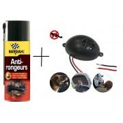 КОМПЛЕКТ: Спрей Bardahl 400 мл. за защита на кабелите на автомобилите + Електронен уред прогонващ мишки, плъхове и белки в транспортни средства Gardigo