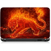 VI Collections Fire Tiger Printed Vinyl Laptop Decal 15.5