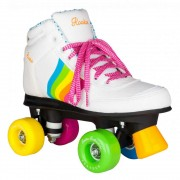 Patine cu rotile Rookie Forever Rainbow White