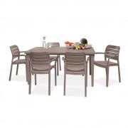 Fusara 6+1 kerti bútor garnitúra szett cappuccino színben