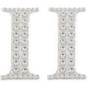 Magideal 2Pcs Self Adhesive Letters Diamante Post Box Favour Embellishment Crafts I