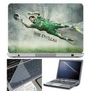 FineArts Laptop Skin - Iker Casillas With Screen Guard and Key Protector - Size 15.6 inch