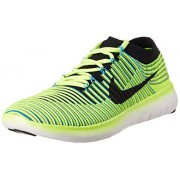 Nike Men's Free Rn Motion Flyknit Florescent Green Running Shoes - 9 UK/India (44 EU)(10 US)(834584-007)