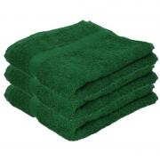 Towelcity 3x Luxe handdoeken donkergroen 50 x 90 cm 550 grams