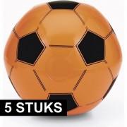Geen 5x Oranje fan voetbal strandbal
