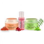 Sattvik Organics Soft Fresh Kit Cleanser Toner - Moisturizer Clears Pores Removes Excess Oil SPF 30