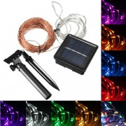 Meco 20M 200 LED Solar Powered Copper Wire String Fairy Light Xmas Party Decor