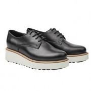 Apple of Eden derby-schoenen met plateau, 37 - zwart