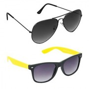 Hrinkar Green Mirrored Aviator Unisex Sunglasses
