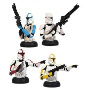 Star Wars BustUps Episode II Attack of the Clones Clone Trooper Set of 4
