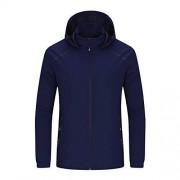 Wollet chamarra de invierno para hombre con capucha, transpirable, impermeable, de secado rápido, para montañismo, para mujer, azul 1, 5XL men