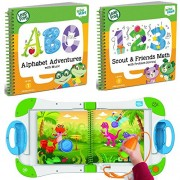 LeapStart LeapFrog LeapStart Interactive Learning System Preschool and Pre-Kindergarten for Kids Ages 2-4+ Alphabet and Music & Scout & Friends Math Learning Basic Skills Books Fun Activity Bundle Set