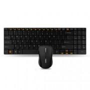 Клавиатура Rapoo 9060, черни, комплект безжични оптична мишка & клавиатура, ultra-slim, компактен USB приемник