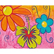 Ideal Decor Komar DM904 Spring Flowers 4-Panel Wall Mural