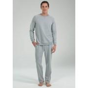 BlackSpade Трикотажный мужской домашний комплект серого цвета BlackSpade b7550 Grey Melange
