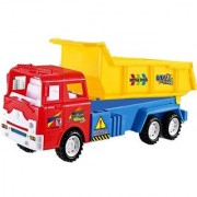 Emob Classic Large Vehicle Construction Dump Truck Toy for Kids and Toddlers (Multicolor)