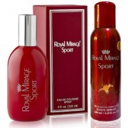Royal Mirage Eau De Cologne Spray Sport 120ml + Royal Mirage Body Spray Sport 200ml