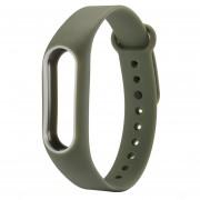 Para Xiaomi Mi Banda 2 Colorida Silicona Correa De Muñeca Watch Band, Anfitrión No Incluido (Ejército Verde + Blanco)