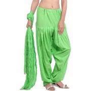 Jaipurkurti Pure Cotton Parrot Green Patiala Salwar and Dupatta Set
