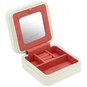 Friedrich Lederwaren Cestovní šperkovnice bílá/červená Mandala 20131-1