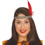 Merkloos Rode Indianen veer verkleed accessoire