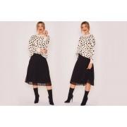 Zibi London Ltd £10.99 (from Zibi London) for a black shift pleated skirt - choose your UK size