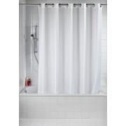 WENKO Duschvorhang Comfort Flex Weiß, Polyester, 180 x 200 cm, waschbar