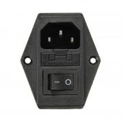 10A AC250V 3 in 1 Zekering Voeding Socket Plug Adapter zekering Met Schakelaar Voor Makerbot Voor Ultimaker 3D Printer Onderdelen zekering