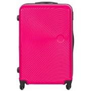 Borg Design Stor resväska - Pink - Hård abs/polycarbonat