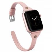 Curea slim din piele ecologica pentru Apple Watch 1 / 2 / 3 / 4 38 / 40mm, roz