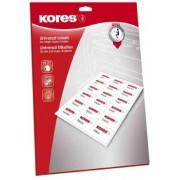Kores L9742 étiquettes multiusges blanches 97x42.3 mm coins droits- Boîte 100 pl. A4