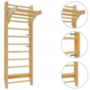 vidaXL Barra de parede/espaldar 80x55x220 cm madeira