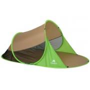 CampFeuer - PopUp Strandmuschel, 2 Pers., braun-grün, UV50+