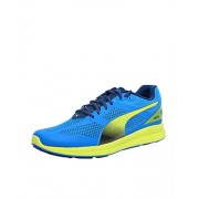 Puma Men's IGNITE Mesh Cloisonné, Poseidon and Sulphur Spring Mesh Running Shoes - 9 UK/India (43 EU)