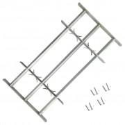 vidaXL Регулируема решетка за прозорец с 3 напречни лоста, 700-1050 мм