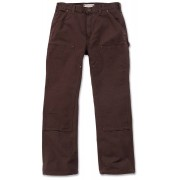 Carhartt Washed Duck Double-Front Work Dungaree Hose Braun 30