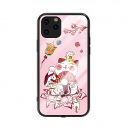 KINGXBAR Palace Series Crystals Decor Incoming Call Flash TPU + Tempered Glass Cover for iPhone 11 Pro 5.8 inch - Pink
