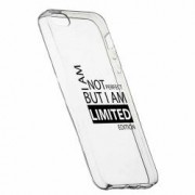 Husa Silicon Transparent Slim Limited Edition Apple iPhone 5 5S SE