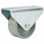 Bokwiel met plaat maximaal 40 kg 25 mm