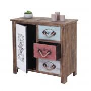 Kommode HWC-C59, Sideboard Schubladenschrank Schubladenkommode, Shabby-Look Vintage 1 Tür 3 Schubladen ~ Variantenangebot