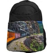 Rikki Knight UKBK Train on Mountainside Tech Backpack - Padded for Laptops & Tablets Ideal for School Or College Bag Backpack