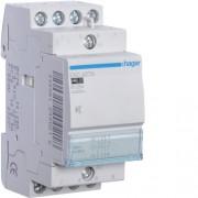 Csendes moduláris kontaktor 25A, 2 Záró + 2 Nyitó érintkező, 230V AC 50 Hz (Hager ESC427S)