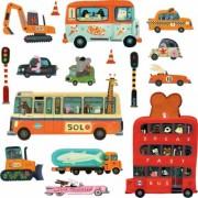 Stickere perete copii Vehicule Djeco