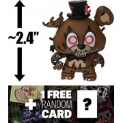 "Nightmare Freddy: ~2.4"" Funko Mystery Minis x Five Nights at Freddy's Series II Mini Vinyl Figure + 1 Official FNAF Trading Card Bundle (14002)"