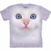 Hi-tech zvieracie tričká - Mačka biela