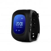 Ceas inteligent pentru copii WONLEX Q50 Negru cu GPS, telefon, si monitorizare spion